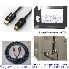 China FOXCONN FIT HDMI 2.0 Active Optical Cable CUJA05A-ZZ225-EF ,HDMI AOC, 25 Meter supplier